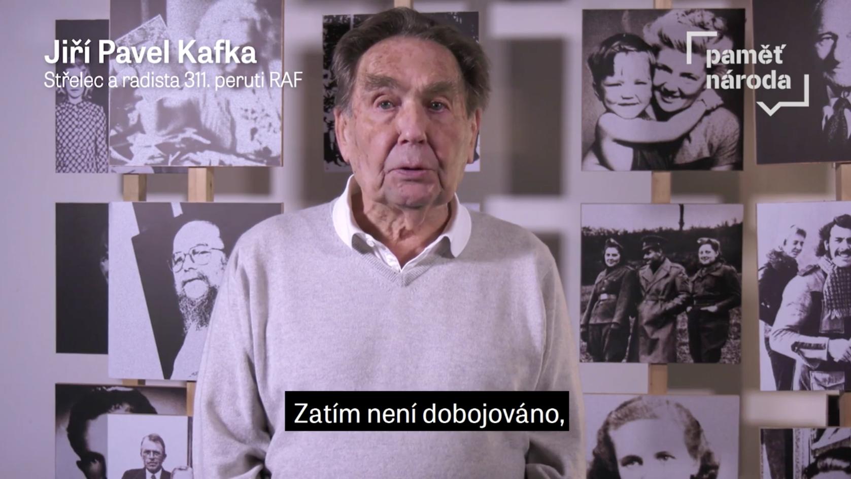 """""""Zatím není dobojováno, """" říká ke 2. kolu prezidentských voleb střelec a radista RAF Jiří Pavel Kafka"""